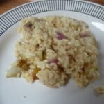 Pear and Goats Cheese Risotto