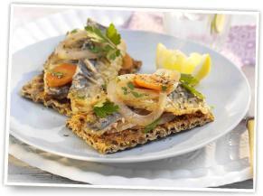 Ryvita Mediterranean Herb Crispbread with Sardine Escabeche
