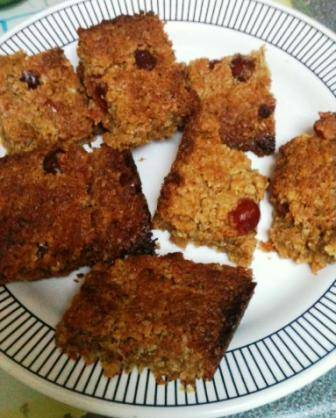 cherry and coconut flapjacks