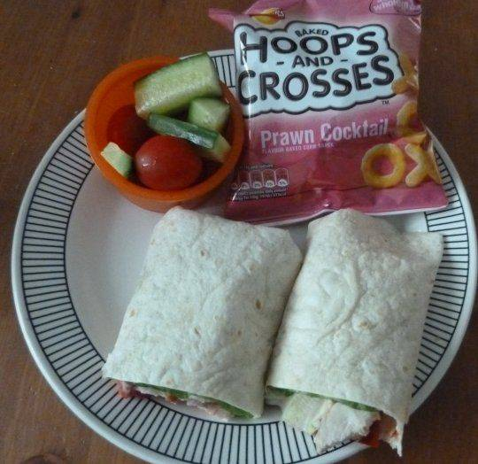 lunchbox chicken and bacon wraps