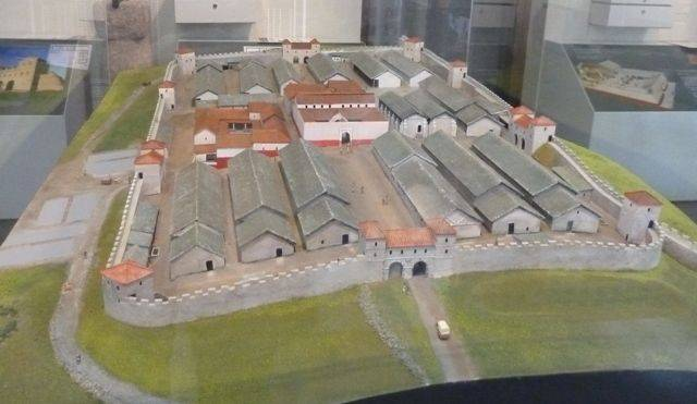 model of housesteads roman fort