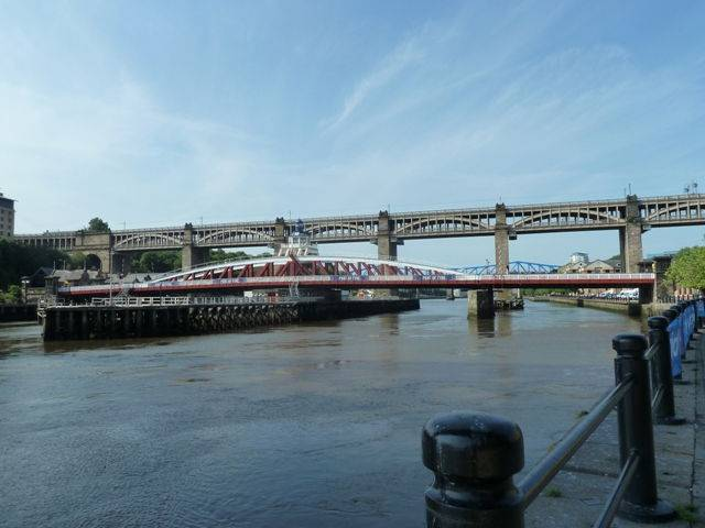 View of the swing bridge Newcastle