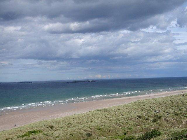 Bambrough castle beach