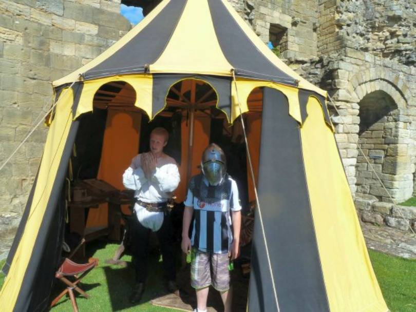 knights at warkworth castle