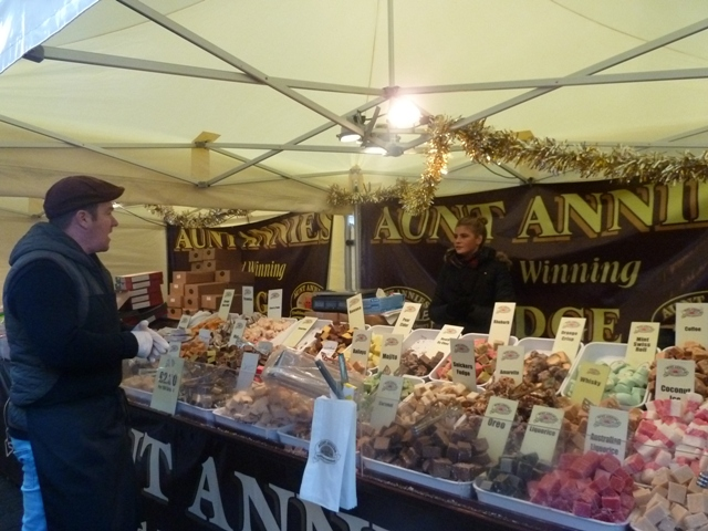 Sweets at Newcastle Christmas Market