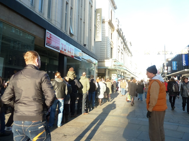 Queue to see Fenwicks Christmas windows