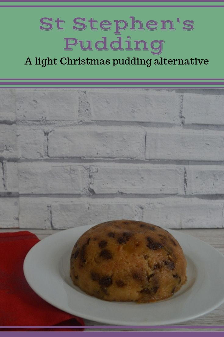 St Stephen's pudding recipe. This lightly steamed apple pudding is a great alternative to Christmas pudding