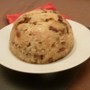 St Stephens Pudding - a delicious apple pudding on a plate