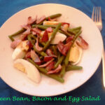 Green bean, bacon and egg salad