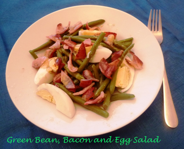Green bean, bacon and egg salad