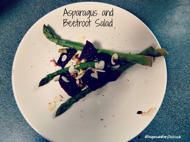 Beetroot and asparagus salad