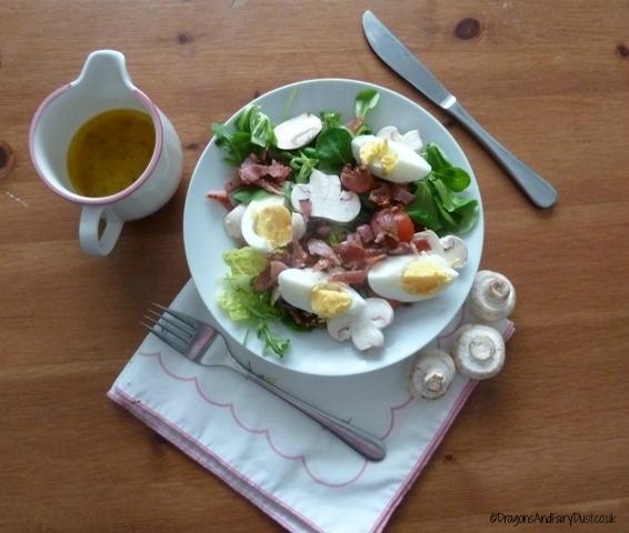 Bacon Egg and Mushroom Salad