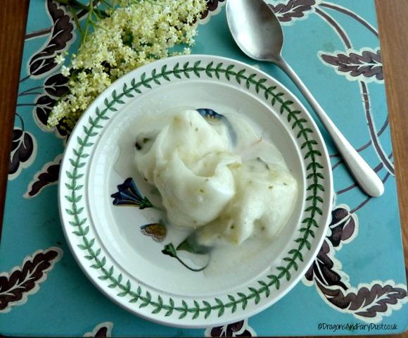 Elderflower and Gooseberry sorbet
