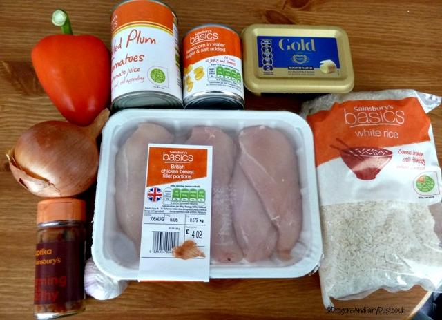 Ingredients for Spanish Chicken