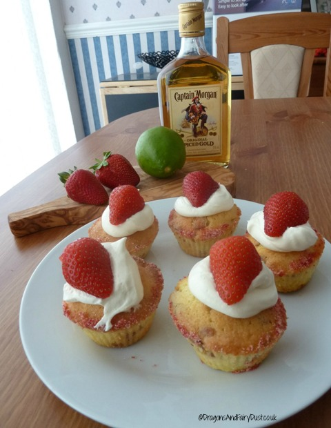 Strawberry Daiquiri cupcakes