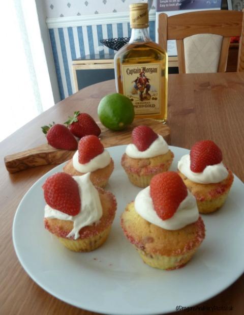 Strawberrry Dacquiri cupcakes