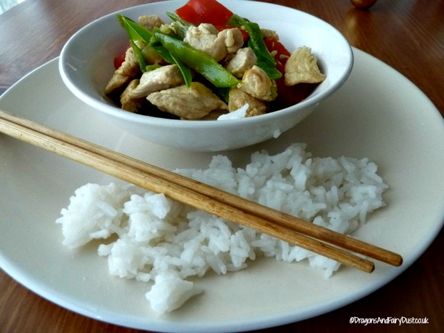 Jasmine rice with ginger soy turkey