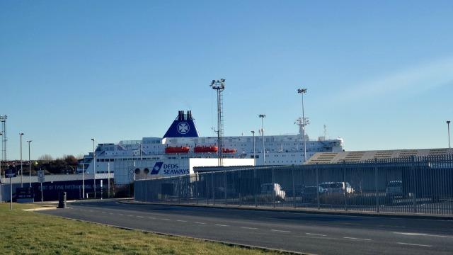 DFDS Seaways at port of tyne