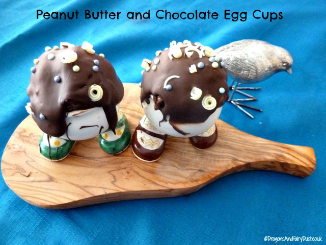Peanut butter and chocolate egg cups
