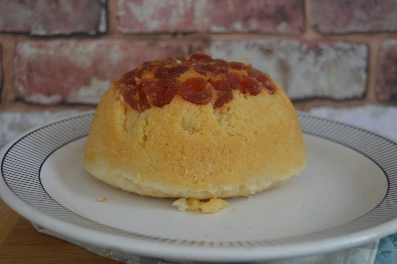 Newcastle pudding - a steamed pudding with a cherry topping