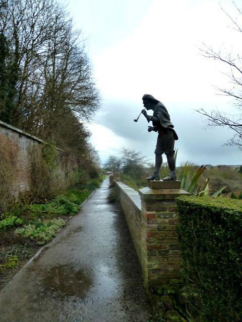 Statues in walled garden wallington hall