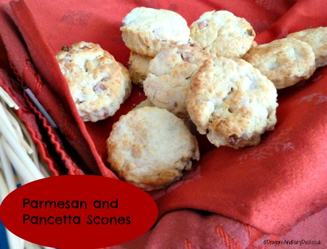 Pancetta and parmesan scones