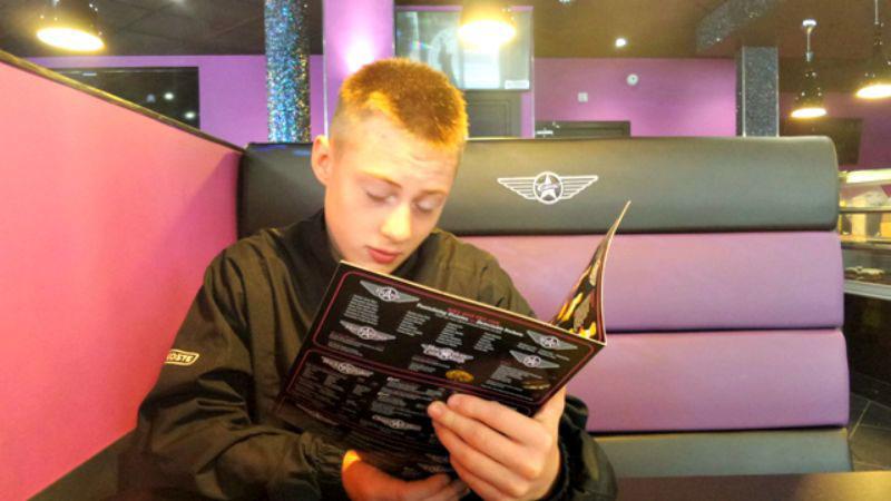 Ordering from the menu at Creams