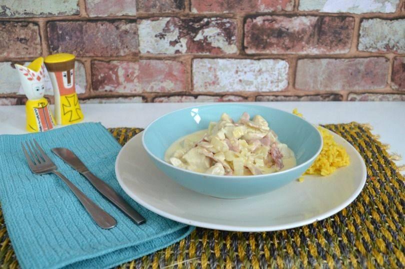 Chicken supreme recipe - chicken in a creamy mushroom and bacon sauce