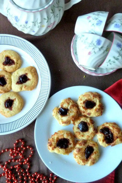 coconut thumbprint cookies