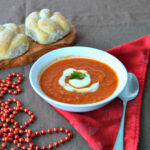 tomato and raspberry soup