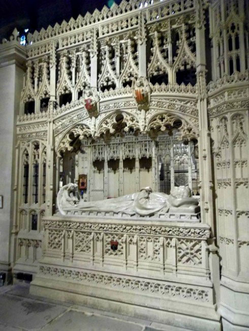 The tomb of bishop Lloyd