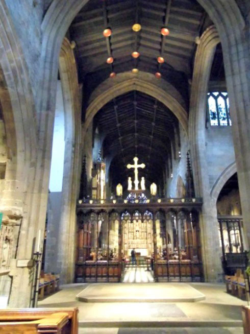 St Nicholas Cathedral - a view of the choir stalls