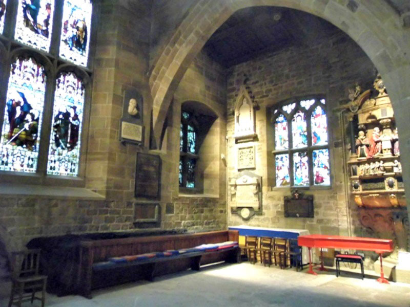 A quiet corner of Newcastle cathedral