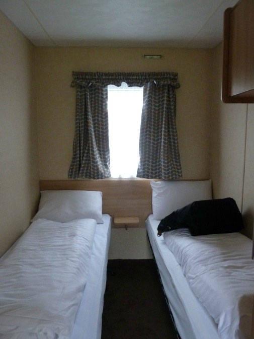 bedroom in Macdonald caravan, Parkdean wemyss bay