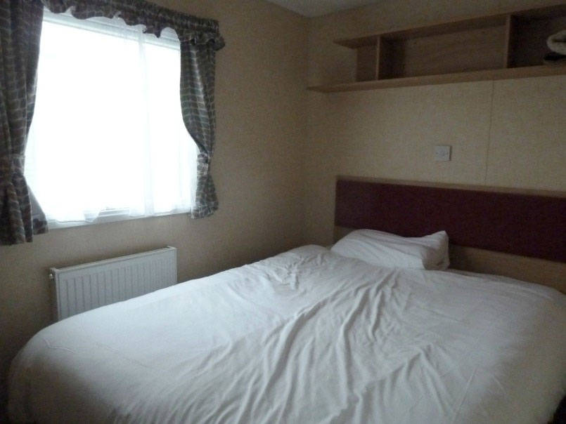 bedroom in Macdonald caravan Parkdean Wemyss bay