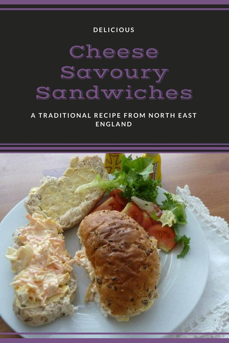 Cheese savoury sandwiches: A delciious savoury sandwich filling from North East England