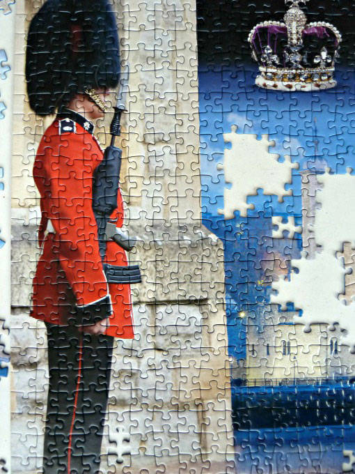 Guards man on tower of london ravensburger jigsaw puzzle