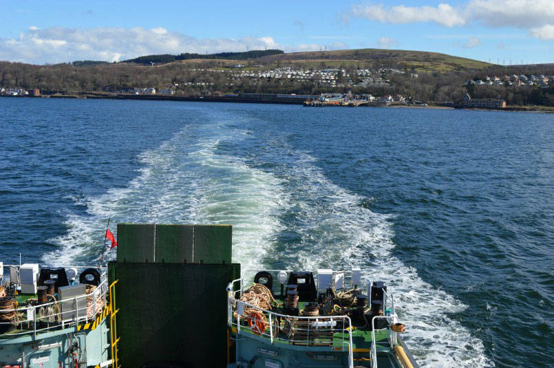 Leaving Wemyss Bay on the ferry