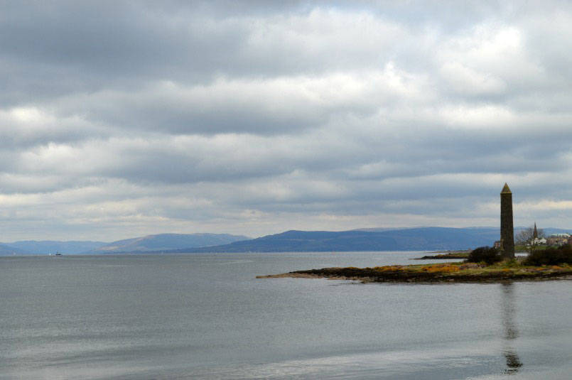 The Pencil monument at Largs commeorates the Battle of Largs