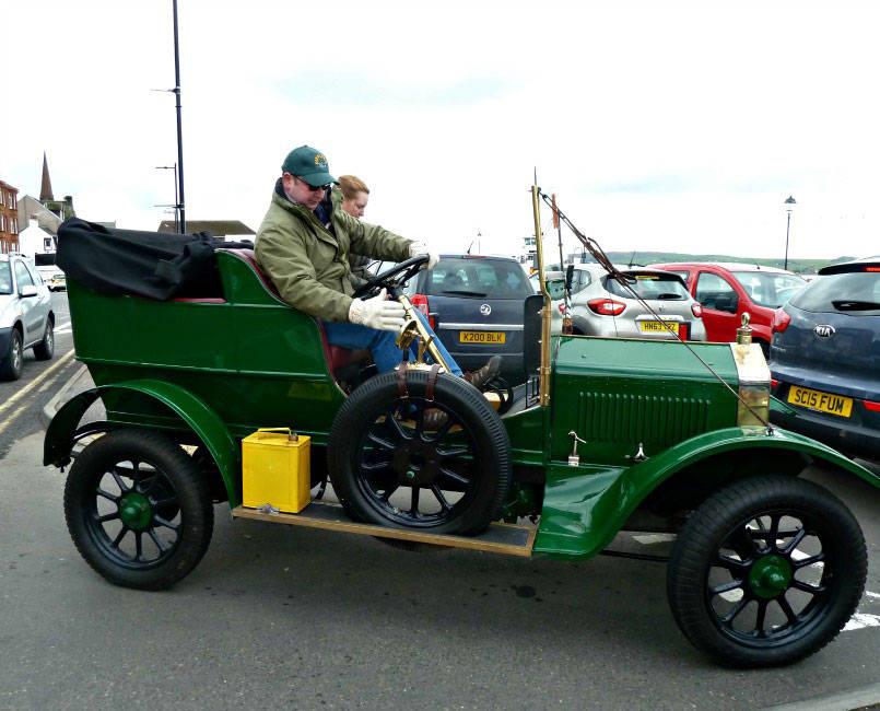 Vintage car at Largs