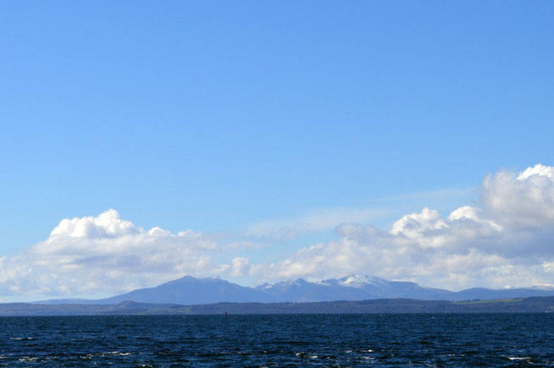 View across Wemyss Bay from the ferry port