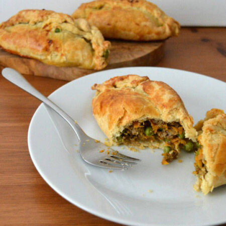 John Waite's spiced lamb pasties