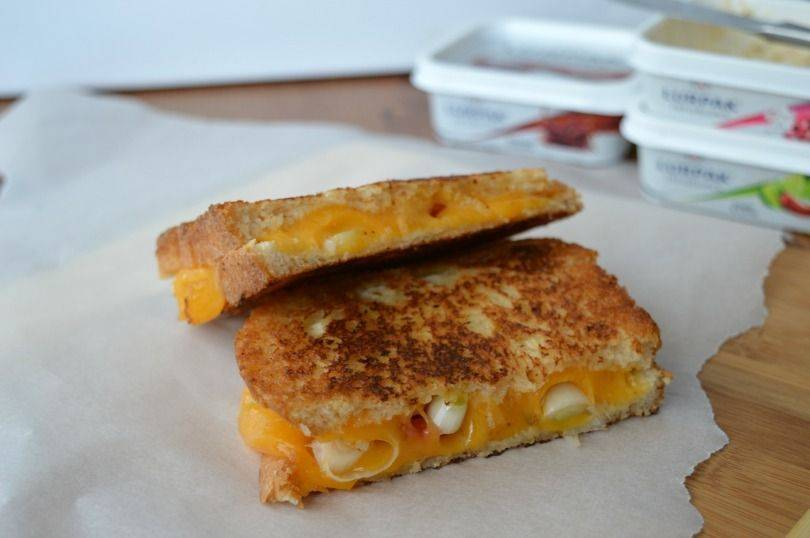 Toasted cheese sandwiches with lurpak infusions