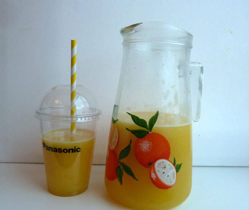 Tropical zing juice made with panasonic slow juicer