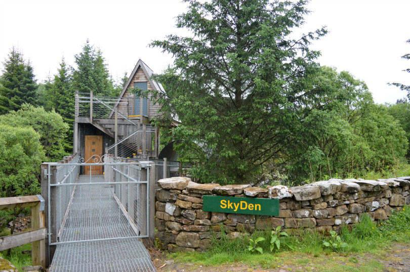 Sky den at the Calvert Trust