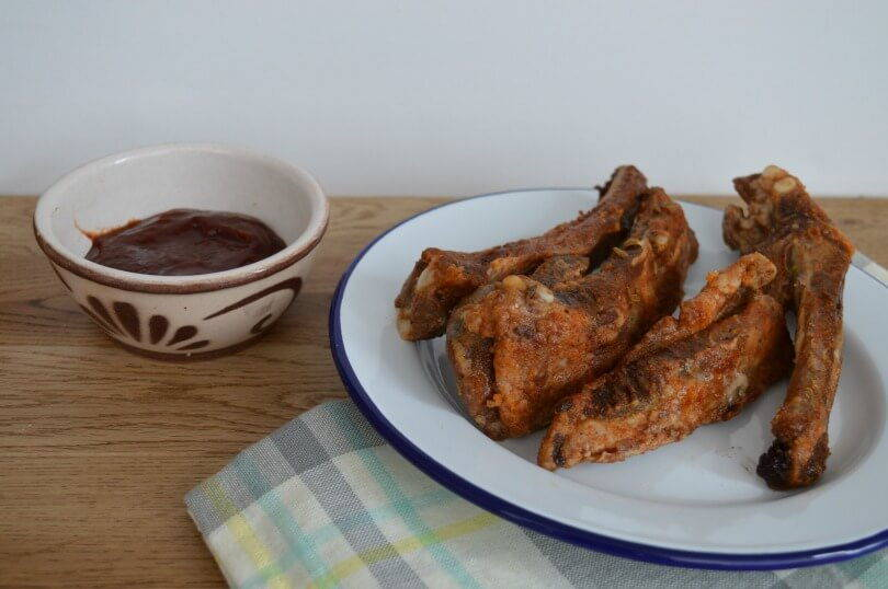 salt and pepper ribs in barbecue sauce