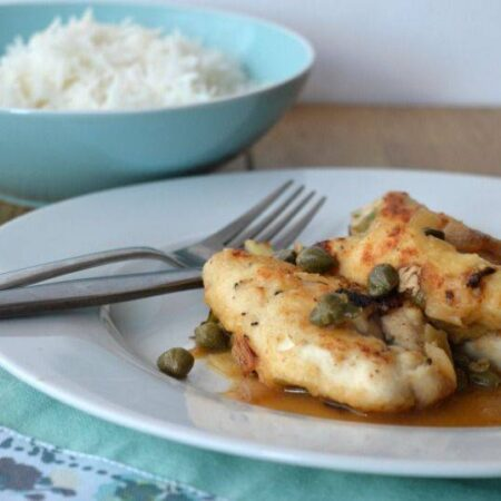 Turkey piccata with lime sauce