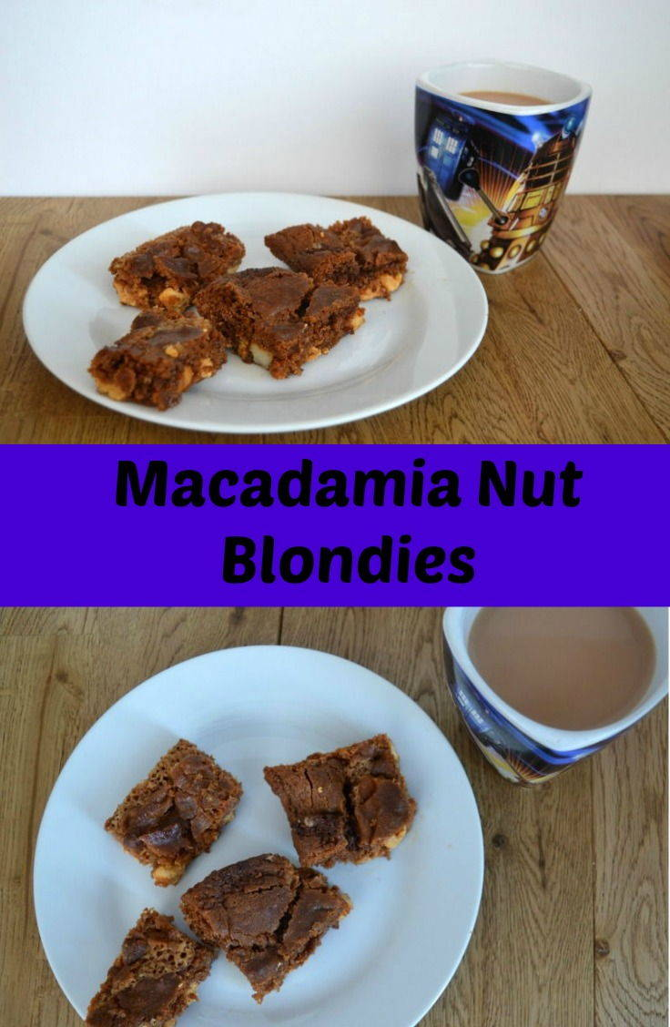 Macadamia nut blondies