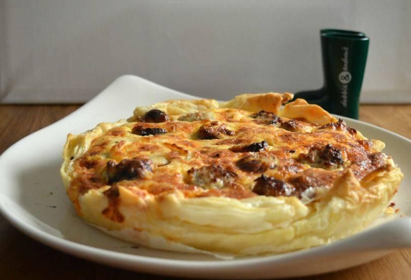 sausage and onion quiche