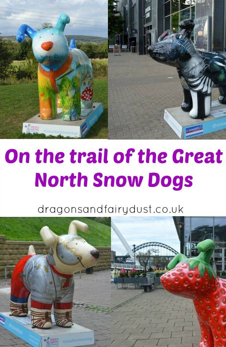 The Great North snowdogs trail is taking place in North East England until the end of December. These giant snowdog sculptures are located in various places through the North East.